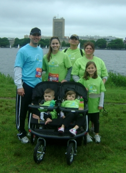 Anthony Lamacchia with his family at the Walk for Children's Hospital last year.
