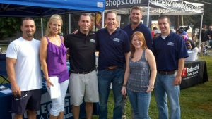 Fox 25 Newsanchor Shannon Mulaire stops by our tent