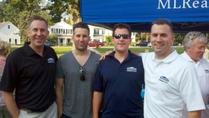 John, his brothers Tom and Pat, with Anthony at the Zip Trip Sturbridge