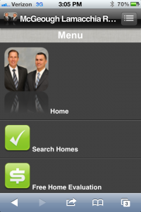 Our Mobile Optimized Site Home Page
