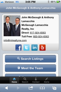 Search Homes Page