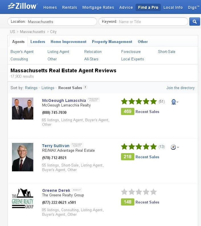 #1 in Zillow