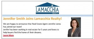 Lamacchia New Agent Email Newsletter