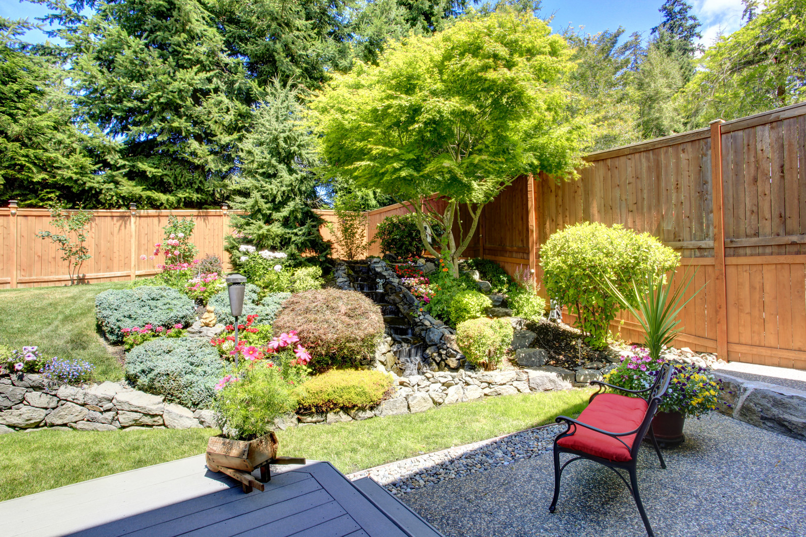 Trees absorb the water running off your property and stop pollutants from entering community waterways.