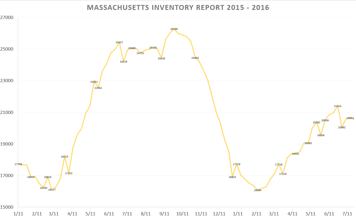 Monthly inventory report