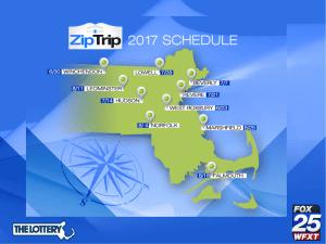 2017 Zip Trip Schedule