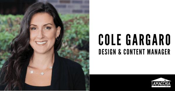 Cole Gargaro Design & Content Manager Lamacchia Realty