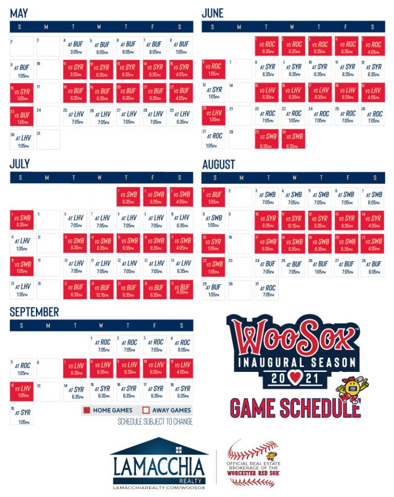 2021 Worcester Red Sox Schedule
