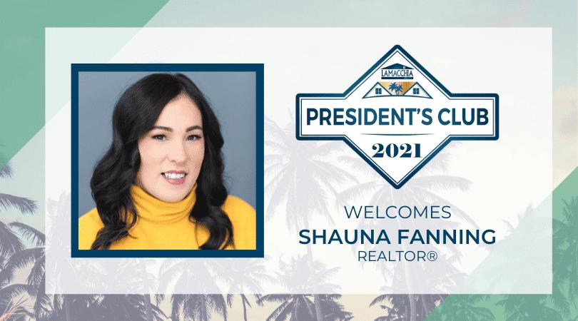 Shauna Fanning President's Club 2021